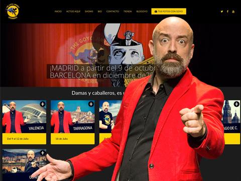 Homepage web Goyo Jiménez