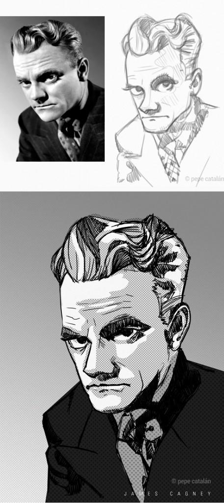 Ilustración James Cagney