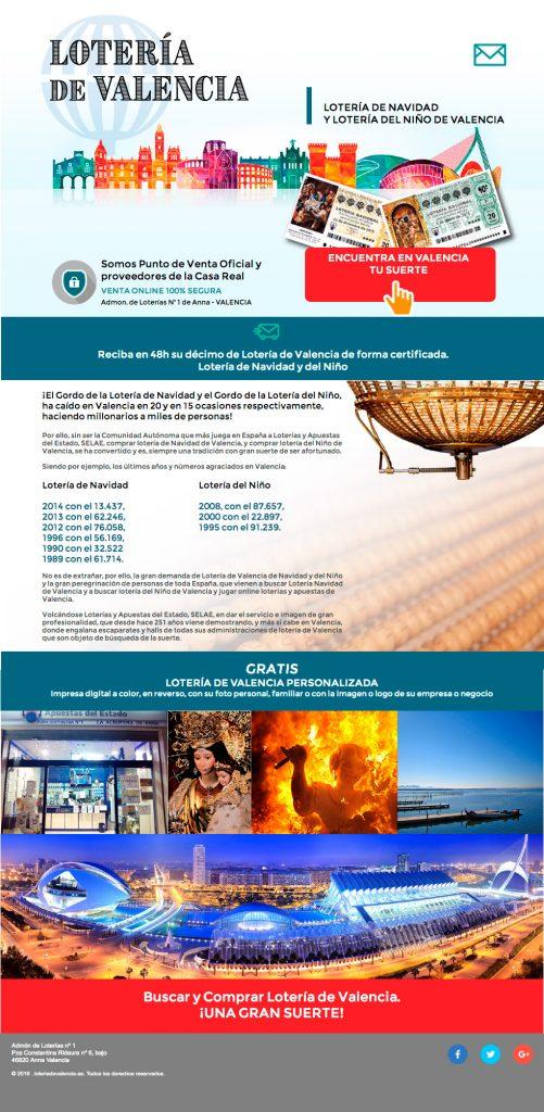 web landingpage loteriadevalencia