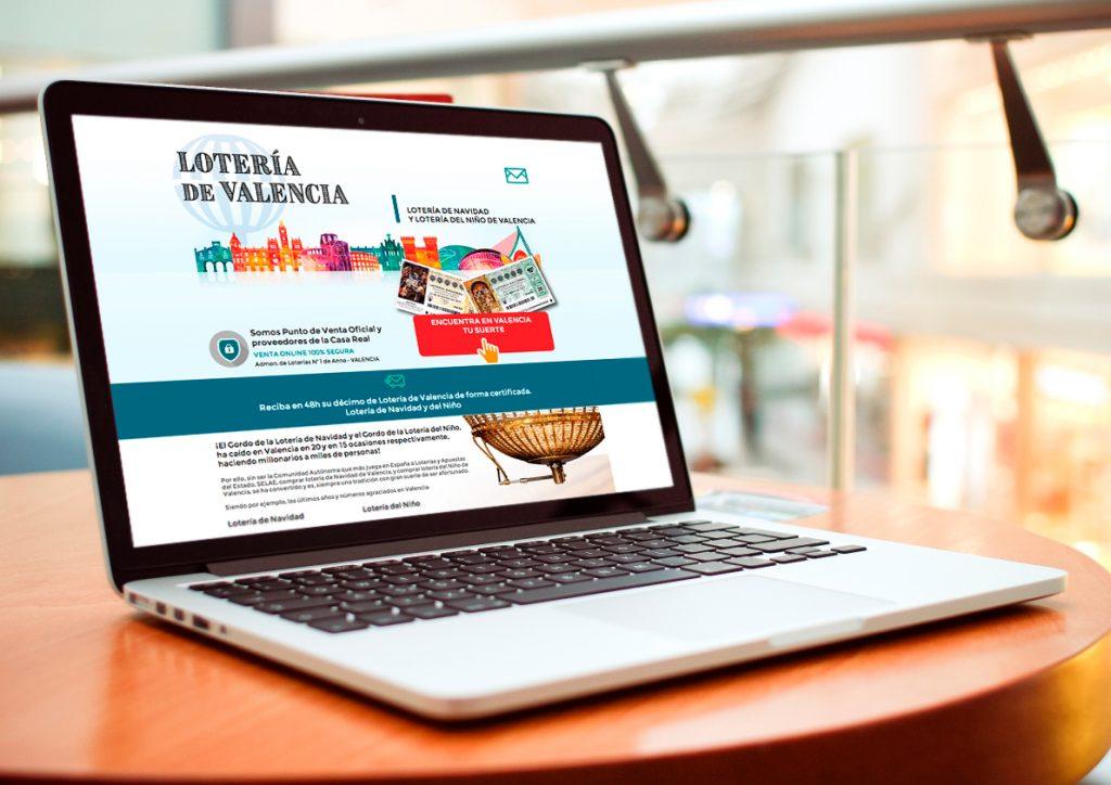 Landing page loteria valencia