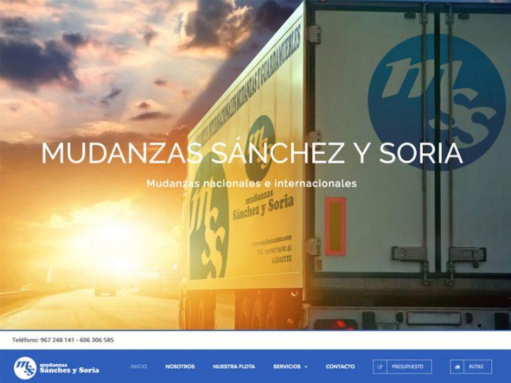 Mudanzas Sánchez y Soria cuenta con nosotros para renovar la imagen de su página web