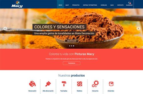 Nuevo portal web para Pinturas Macy