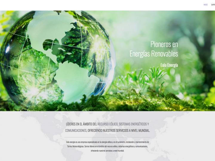 Nueva web para Eola Energía