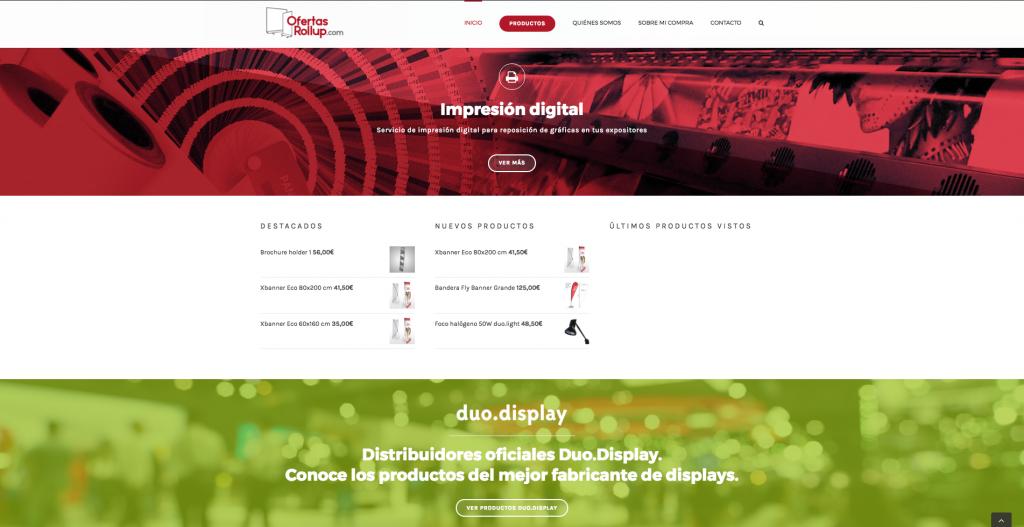 Vista diseño web OfertasRollup.com 3