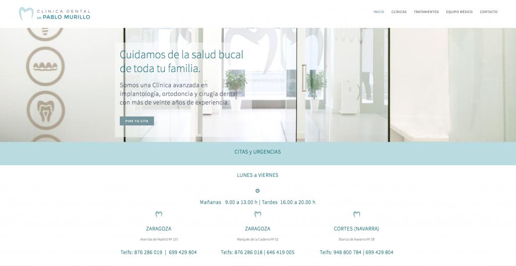 Web Clínica Dental Pablo Murillo 1
