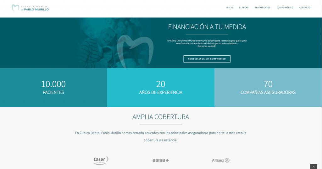 Web Clínica Dental Pablo Murillo 3
