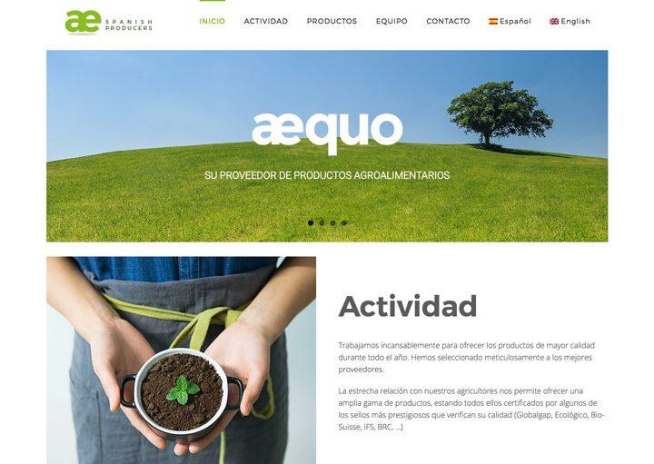 Os presentamos la nueva web que hemos diseñado para Aequo GB