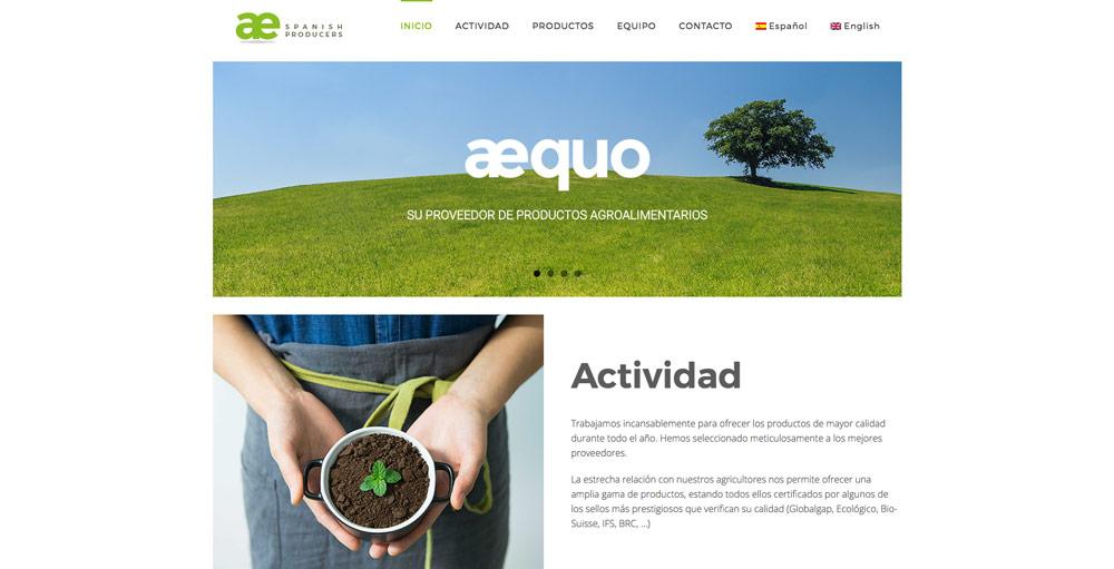 Nuevo diseño web para Aequo GB 1