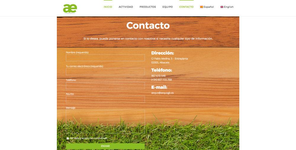 Nuevo diseño web para Aequo GB 3