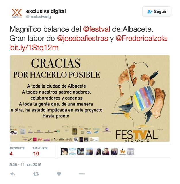 Festval agradece colaboracion Enunod