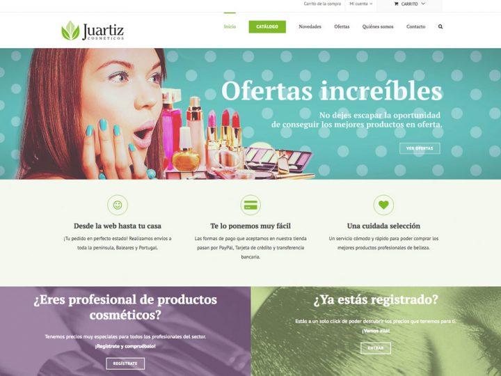 Nueva tienda Online: Juartiz Cosméticos.